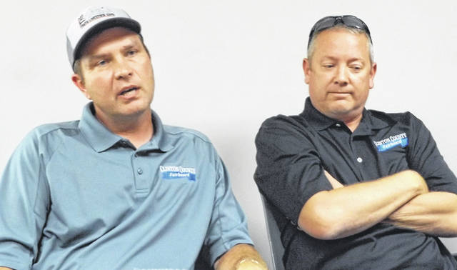 Two new Fair Board members are, from left, Josh Dixon and John Cooper.