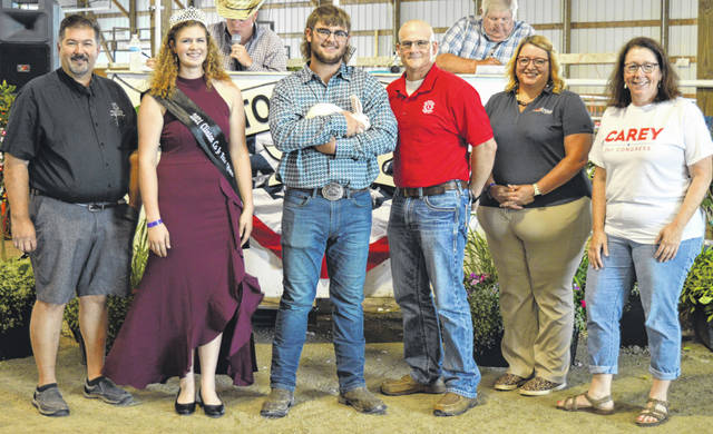 Jayden Doyle's reserve champion market fryer rabbit netted a $1,170 premium at the time of the livestock auction. The contributing sponsors include American Equipment Service, ATSG (Air Transport Services Group), Bower Family Farms, Bronson Door Co., Bush Auto Place, Carey for Congress, D&E Equipment Co., Brad and Erika Goodwin, Groves Tire & Service, Hitachi Astemo Ohio Manufacturing Inc., Longs Pharmacy, Master Feed Mill Inc. in Wilmington, Orchard Veterinary Care LLC, Pierson Excavating LLC, R+L Carriers, Rob's Equipment, Skyline Chili in Wilmington, Wilmington Auto Center - Chrysler, Dodge, Jeep, and the Wilmington Lions Club.
