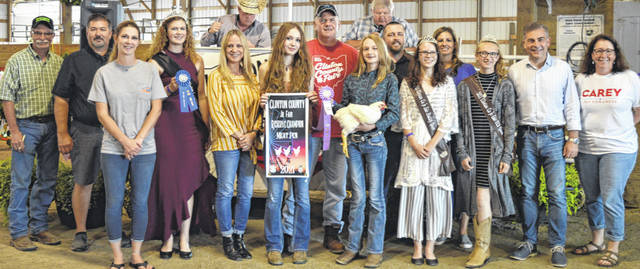 Mallory Thomason's reserve champion pen of three chickens garnered an $825 premium at the time of the livestock auction. The contributing sponsors include BDK Feed & Supply, Carey for Congress, Phyllis Cocklin, DeBold Builders, First State Bank, Groves Tire & Service, Johnson Farms, auctioneer Kasey Smith with the Wendt Group, Longs Pharmacy, Sunrise Cooperative, The AZEK Company, Wilmington Auto Center - Chrysler, Dodge, Jeep, Wilmington City Treasurer, Wilmington Performing Arts Studio, and Wilson Livestock Services.