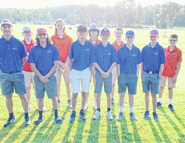 The Clinton-Massie boys golf team, from left to right, front row, Conner Stulz, Ethan Johnson, Cam Morgan, Andy Steed, Logan Miller, Owen Goodwin; back row, Zander Avery, Samuel Janis, Liam Denehy, Ethan Robinette, Brandon Bowling. Team members Quinton Smith and Cayden Smith were not present for the photo.