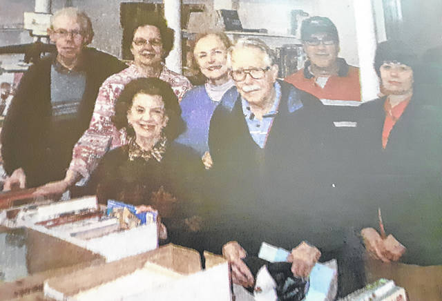 Previous members of Friends of the Library include, from left: front, Mary Kraus, Robert Thorp, Linda Gallagher and Regina Swisshelm; and, back, Hans Mueller, Barbara Mueller, Donna Thorp, Tim Titus and Ted Shumaker, president.