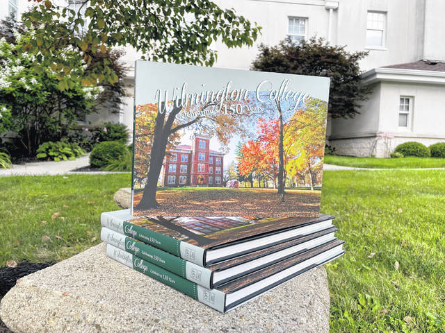 """The Clinton County History Center has expanded its gift shop offerings, including the new book """"Wilmington College, Celebrating 150 Years."""""""
