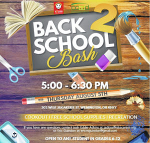 Back to School Bash Thursday includes games, cookout, school supplies
