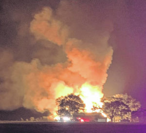 Fayette County barn catches fire