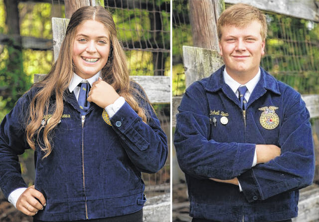 East Clinton FFA members Maggie Mathews and Mitchell Bean have qualified for the national convention.