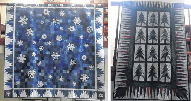 """Each of these """"Winter Wonderland"""" quilts will be raffled off."""