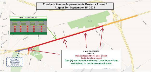 This graphic displays the look of Phase 2 of the Rombach project.