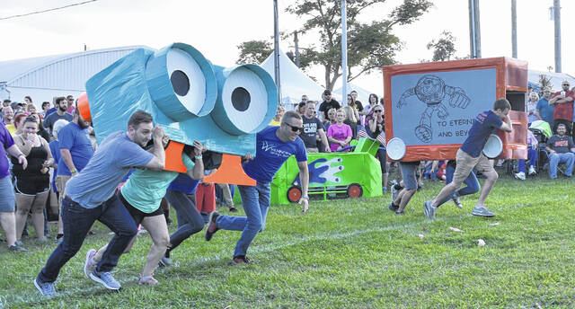 The three-day Corn Festival returns even stronger than the last one, held in 2019; shown is the '19 Corn Olympics.
