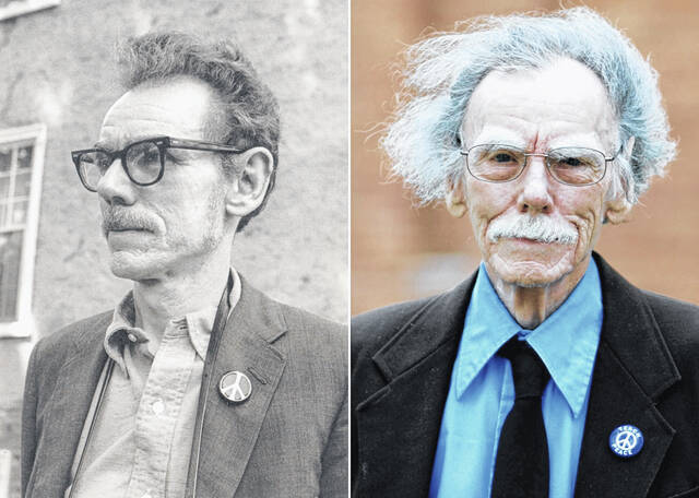 Dr. Larry Gara, pictured in 1968, and in 2008.