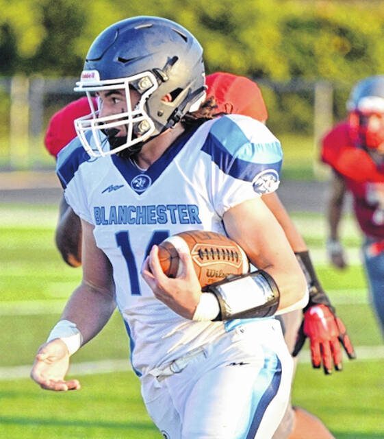 BHS freshman Michael Mulvihill had a passing touchdown and a rushing touchdown in last week's win over Goshen.