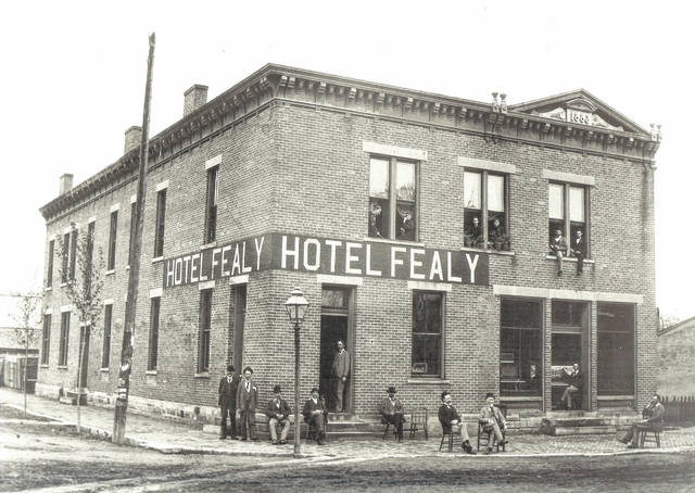 The Hotel Fealy was built in New Vienna in 1883. Can you tell us more? Share it at info@wnewsj.com. The photo is courtesy of the Clinton County Historical Society. Like this image? Reproduction copies of this photo are available by calling the History Center. For more info, visit www.clintoncountyhistory.org; follow them on Facebook @ClintonCountyHistory; or call 937-382-4684.
