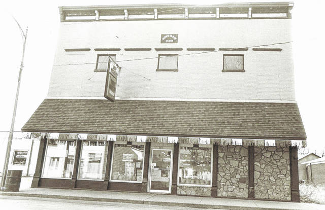 """This photo is of the Irons Block Building that was built in New Vienna in 1879; the photo was taken in 1972. This building housed the independently owned and operated """"Daye Hardware"""" store for 42 years from 1945 to 1987. Can you tell us more? Share it at info@wnewsj.com. The photo is courtesy of the Clinton County Historical Society. Like this image? Reproduction copies of this photo are available by calling the History Center. For more info, visit www.clintoncountyhistory.org; follow them on Facebook @ClintonCountyHistory; or call 937-382-4684."""