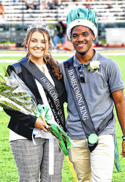 Wilmington College crowned royalty on Saturday — the homecoming queen is senior McKenzie Riley and king is senior Jamirr Johnson.