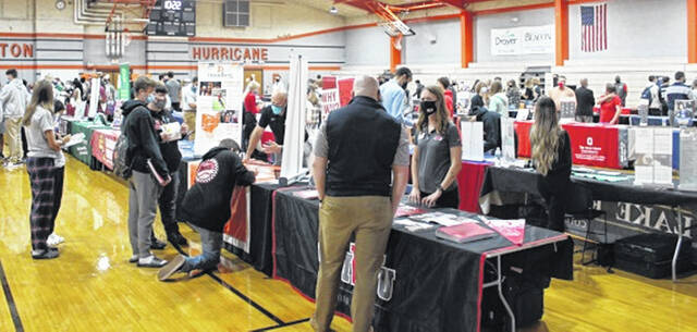 The Wilmington High School gym was filled with over 70 colleges, universities, and military branches and students from Wilmington High School, Clinton-Massie High School, and Laurel Oaks Career Center.