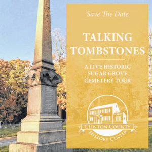 'Talking Tombstones': History Center sets first walking tour featuring reenactors portraying historic people interred at Sugar Grove Cemetery