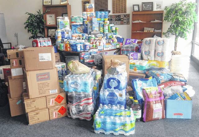 The Wilmington News Journal and the Wilmington-Clinton County Chamber of Commerce partnered to serve as a local collection point for donations for Hurricane Ida victims, and our public responded in a big way with these many donated items. All the items are being delivered to Matthew 25 Ministries in Cincinnati.