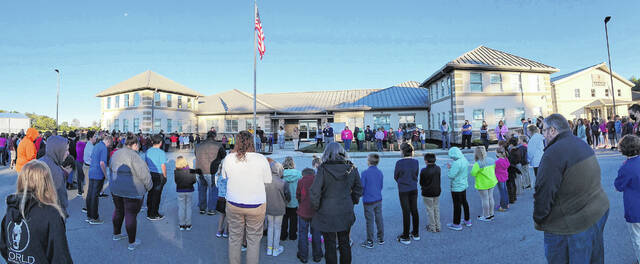 """The Wilmington Christian Academy observed """"See You At The Pole"""" (SYATP) on Friday morning. For SYATP, students meet at flagpoles to pray for their schools. The Global Week of Student Prayer this year is Sept. 19 to Sept. 25."""
