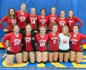Beat goes on for Astros JV volleyball team
