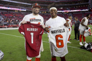 Cardinals' Murray, Browns' Mayfield renew friendly rivalry