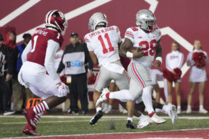No. 5 Ohio St extends streak with 54-7 blowout at Indiana