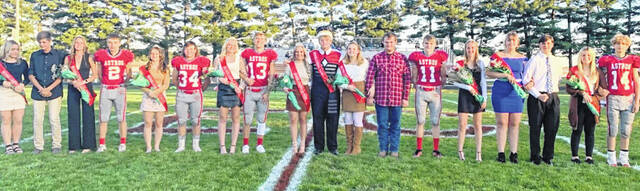 The East Clinton 2021 Homecoming Court (not pictured in order) consists of Carah Anteck, Katie Carey, Alexous Fair, Lydia Kessler, Kelsi Lilly, August Morgan, Isaiah Curtis, Brody Fisher, Darren Johnson, Shane Lynch, Landon Runyon, Jared Smith, Haylee Cooper Riehle, Brady Gaddis, Elizabeth Schiff, Payton Spurlock, Jerika Wilson and Clayton Kimmey.