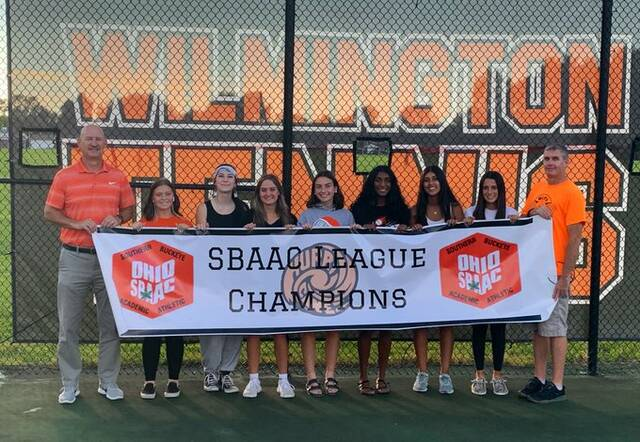 The Wilmington High School girls tennis team, champions of the SBAAC American Division.