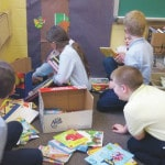 Students hold book drive