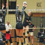 Evergreen volleyball eliminated by Otsego in district