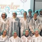 Swanton High School students tour Spangler Candies
