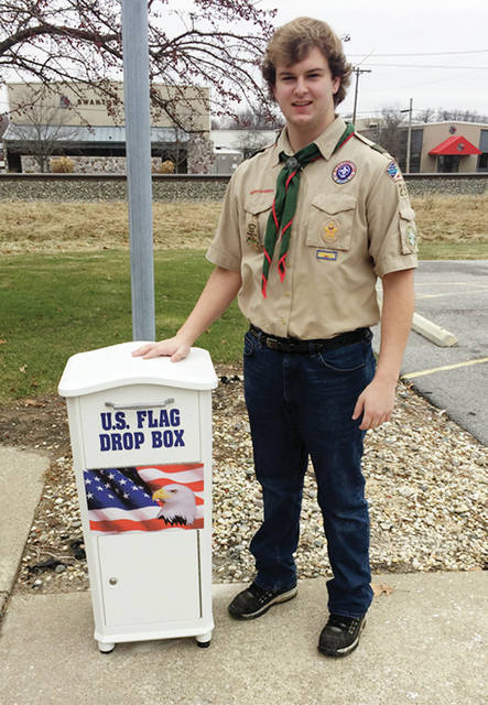 Christian Aumiller of Swanton has earned the rank of Eagle Scout. His Eagle Project resulted in the placement of a Flag Drop Box for worn American flags at the Swanton Public Library, the first of its kind in Fulton County. All flags collected at this site will be retired by the Boy Scouts of Troop #254, which Christian joined at age 6 as a Tiger Cub. Christian thanks the library and Deb Kuhar, who provided help and graphic expertise. He is the son of Brian and Cindy Aumiller.