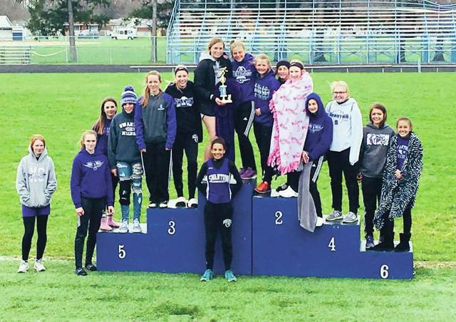 The Swanton Middle School girls were victorious at the Montpelier Track Invitational on Saturday.