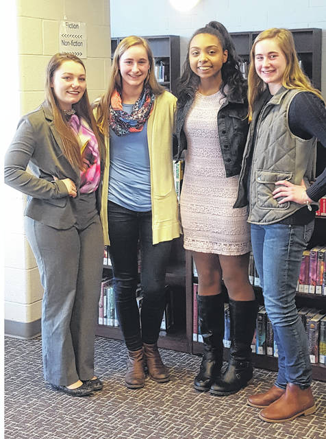 Swanton Rotary Four-Way Test Speech Contestants were Mikayla Rochelle, Olivia Bergman, Ashylnn Waddell, and Alexis Bergman.