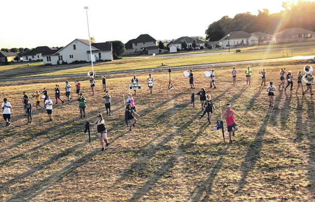 Members of the Swanton High School Marching Band participated in band camp last week.