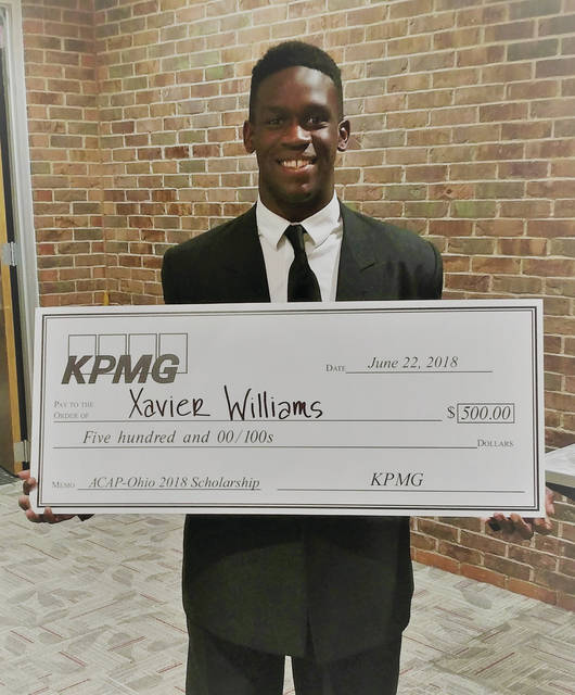 Xavier Williams received a scholarship from KPMG.