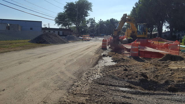There are many construction projects around the Village of Swanton right now. Above is a look at a portion of Church Street.