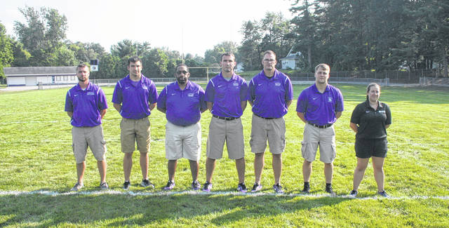 The 2018 Swanton coaching staff.