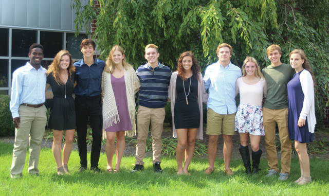 Swanton High School Senior Homecoming attendants Xavier Williams, Riley Gardner, Donovan Avalos, Haiden Gombash, Ryan Marvin, Alyssa Westfall, Michael Lawniczak, Bridget Harlett, Dylan Gilsdorf and Hannah Grabke.