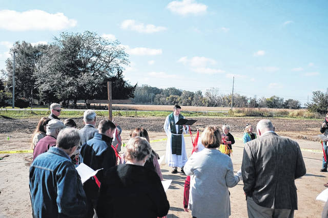 A groundbreaking was held Oct. 14 at the Dodge Street site of the future Faith Evangelical Lutheran Church building.