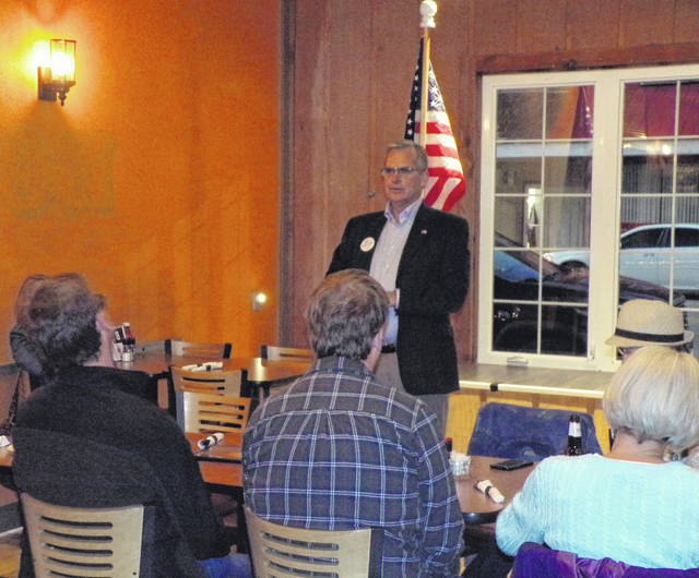 Michael Galbraith, the Democratic candidate for the Fifth Congressional District, hosted an issues and ale town hall at Delta 109 last Monday. Issues and ale events are designed to allow voters to relax, have a drink, ask questions and voice concerns to candidates. Galbraith is challenging Republican Congressman Bob Latta for the seat.