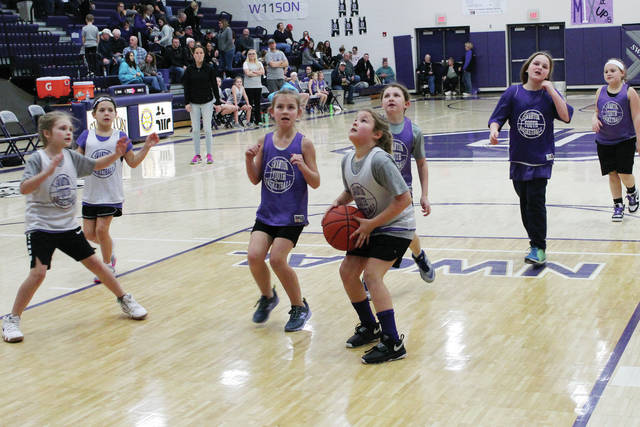 Swanton recreation girls basketball players got a chance to compete in front of a larger than normal crowd on Friday. They took the court during halftime of the high school girls basketball game against Bryan. Swanton recreation girls and boys basketball teams can be seen on multiple occasions during halftime of high school games this season, in addition to the their normal schedule.