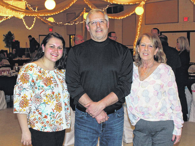 Rotary Club of Swanton President Rosanna Hoelzle, Jeff Lambert and Lou Luce at the auction on Feb. 9.