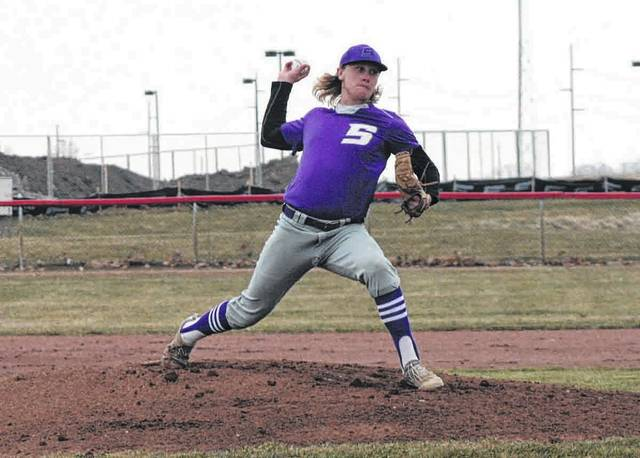 Roman Epley pitches for Swanton in a NWOAL game at Wauseon in 2018. He returns for the Bulldogs after being named to the NWOAL all-league first team a year ago.