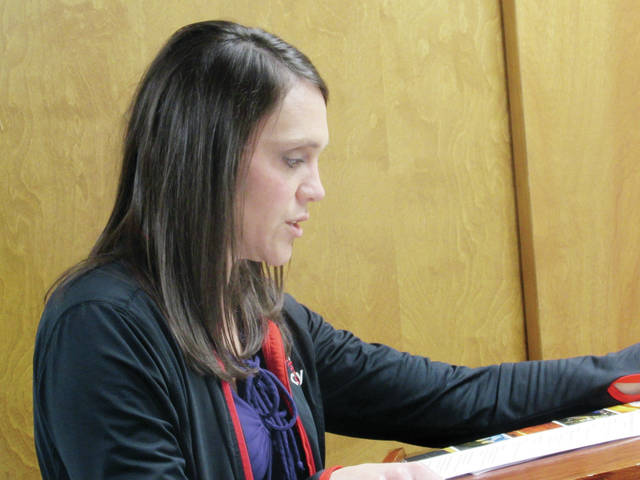 Toni Schindler, marketing and communications director for the Fulton County Commissioners, gave a report Tuesday at their bi-weekly meeting.