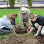 Swanton students participate in Arbor Day planting