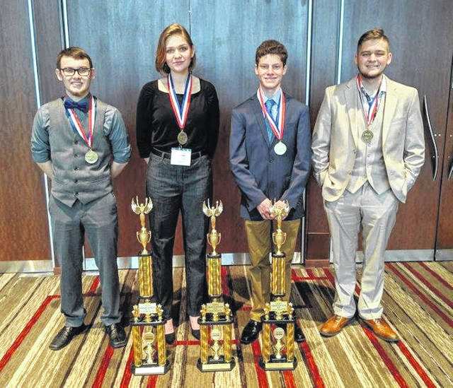 State award winners from Swanton, from left, are Seth Rains, Haiden Gombash, Tristian Gelske, and Nicholai Leninger.