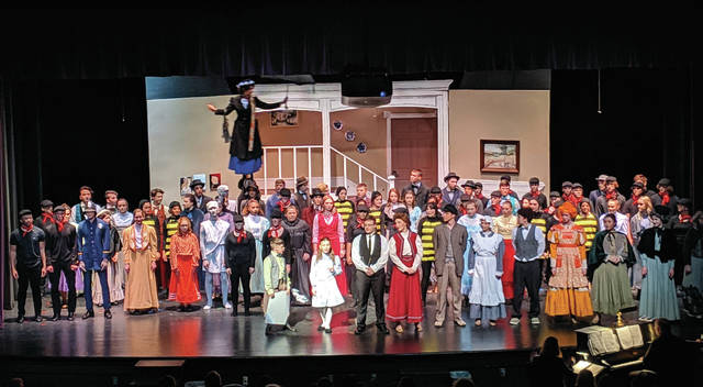 Swanton students showcased their acting and singing abilities as they brought Mary Poppins to life Thursday through Sunday in the high school auditorium. There were four performances of the show, which included a flying Mary Poppins, a first for a Swanton High School musical production.