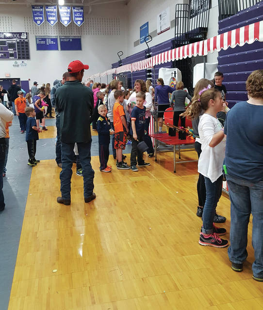 Area kids try their hands at carnival games at a recent Swanton Parents Club Spring Carnival.