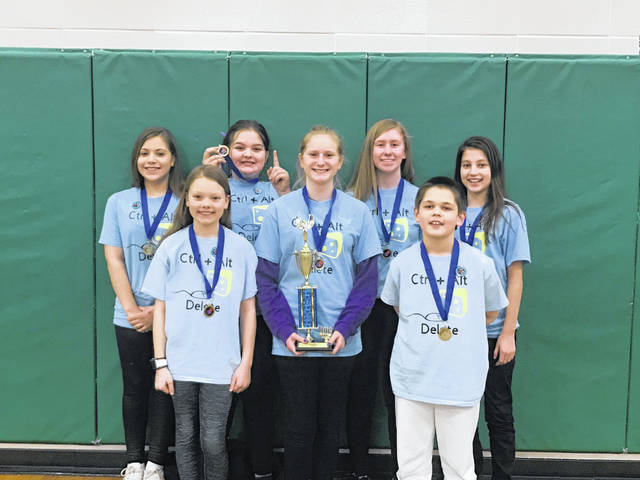 The Control, Alt, Delete team also qualified but opted not to compete at the state tournament. The team is made up of Autumn Collins, Laci Walborn, Natalie Smith, Sophia Stasiak-Irons, Mylee Rochelle, Mikayla Levin and Jordan Deaver. They were coached by Gino Levin.