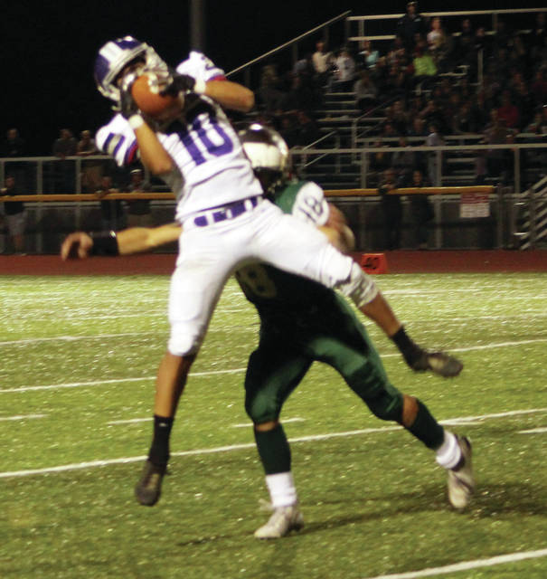 Justyn Bartlett makes a catch for Swanton last year against Evergreen.