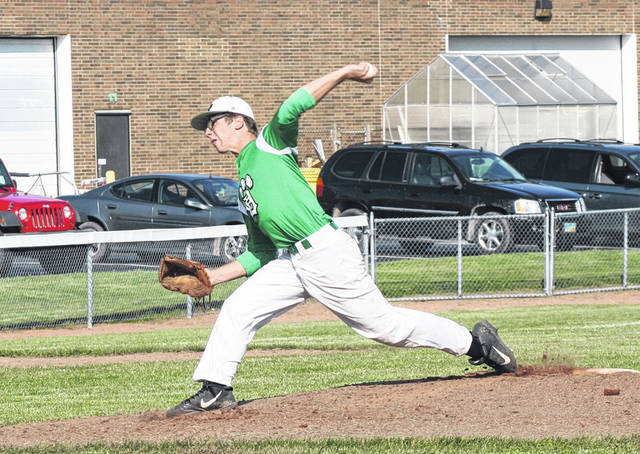 Chase Cooper of Delta pitches during the game June 11 versus Evergreen.
